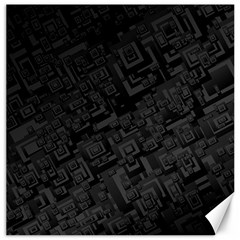 Black Rectangle Wallpaper Grey Canvas 20  x 20