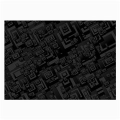 Black Rectangle Wallpaper Grey Large Glasses Cloth (2-Side)