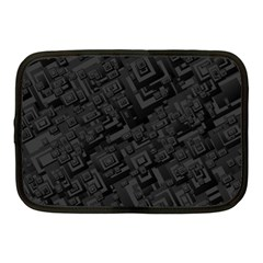 Black Rectangle Wallpaper Grey Netbook Case (Medium)