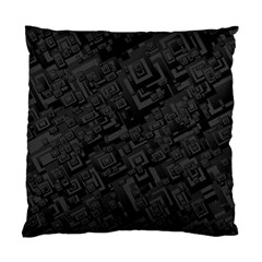 Black Rectangle Wallpaper Grey Standard Cushion Case (Two Sides)