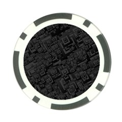 Black Rectangle Wallpaper Grey Poker Chip Card Guards (10 pack)