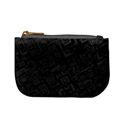 Black Rectangle Wallpaper Grey Mini Coin Purses