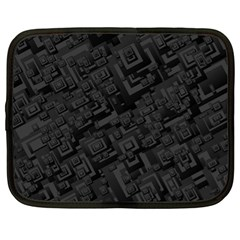 Black Rectangle Wallpaper Grey Netbook Case (XL)