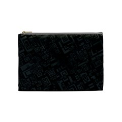 Black Rectangle Wallpaper Grey Cosmetic Bag (Medium)