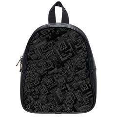 Black Rectangle Wallpaper Grey School Bags (Small)