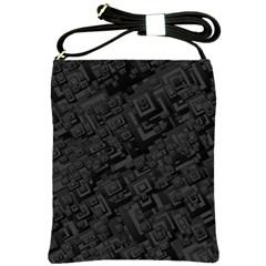 Black Rectangle Wallpaper Grey Shoulder Sling Bags