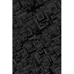 Black Rectangle Wallpaper Grey 5.5  x 8.5  Notebooks