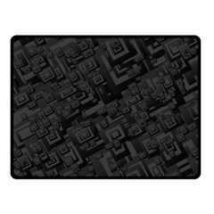 Black Rectangle Wallpaper Grey Fleece Blanket (Small)