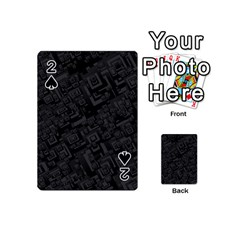 Black Rectangle Wallpaper Grey Playing Cards 54 (Mini)