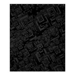 Black Rectangle Wallpaper Grey Shower Curtain 60  x 72  (Medium)