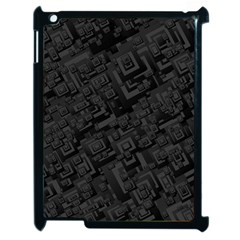 Black Rectangle Wallpaper Grey Apple iPad 2 Case (Black)