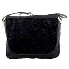 Black Rectangle Wallpaper Grey Messenger Bags