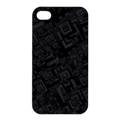 Black Rectangle Wallpaper Grey Apple iPhone 4/4S Premium Hardshell Case