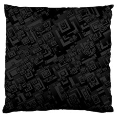 Black Rectangle Wallpaper Grey Large Cushion Case (One Side)