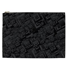 Black Rectangle Wallpaper Grey Cosmetic Bag (XXL)