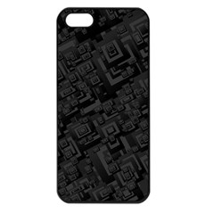 Black Rectangle Wallpaper Grey Apple iPhone 5 Seamless Case (Black)