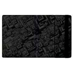 Black Rectangle Wallpaper Grey Apple iPad 3/4 Flip Case