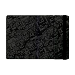 Black Rectangle Wallpaper Grey Apple iPad Mini Flip Case
