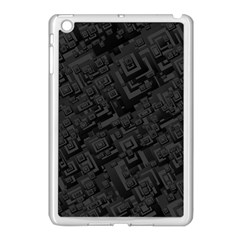 Black Rectangle Wallpaper Grey Apple iPad Mini Case (White)