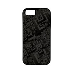 Black Rectangle Wallpaper Grey Apple iPhone 5 Classic Hardshell Case (PC+Silicone)