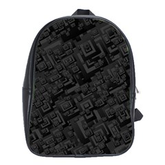 Black Rectangle Wallpaper Grey School Bags (XL)