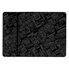 Black Rectangle Wallpaper Grey Samsung Galaxy Tab 10.1  P7500 Flip Case
