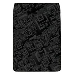 Black Rectangle Wallpaper Grey Flap Covers (L)