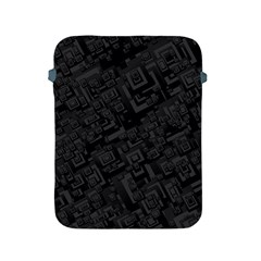 Black Rectangle Wallpaper Grey Apple iPad 2/3/4 Protective Soft Cases