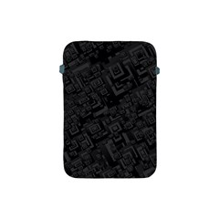 Black Rectangle Wallpaper Grey Apple iPad Mini Protective Soft Cases