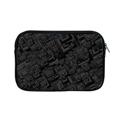 Black Rectangle Wallpaper Grey Apple iPad Mini Zipper Cases