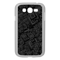 Black Rectangle Wallpaper Grey Samsung Galaxy Grand DUOS I9082 Case (White)