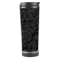 Black Rectangle Wallpaper Grey Travel Tumbler
