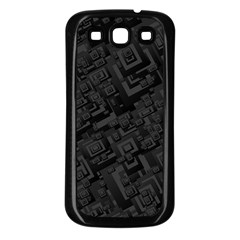 Black Rectangle Wallpaper Grey Samsung Galaxy S3 Back Case (Black)