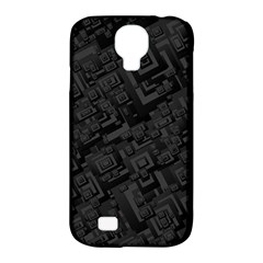 Black Rectangle Wallpaper Grey Samsung Galaxy S4 Classic Hardshell Case (PC+Silicone)