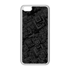 Black Rectangle Wallpaper Grey Apple iPhone 5C Seamless Case (White)