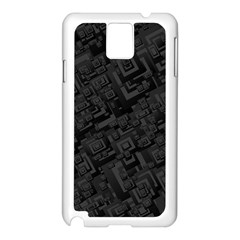 Black Rectangle Wallpaper Grey Samsung Galaxy Note 3 N9005 Case (White)