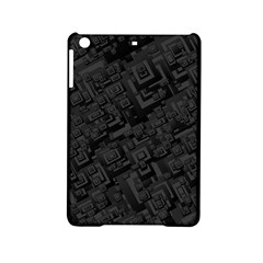 Black Rectangle Wallpaper Grey iPad Mini 2 Hardshell Cases
