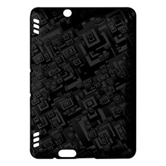 Black Rectangle Wallpaper Grey Kindle Fire HDX Hardshell Case