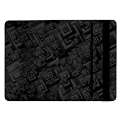 Black Rectangle Wallpaper Grey Samsung Galaxy Tab Pro 12.2  Flip Case