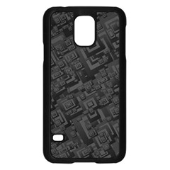 Black Rectangle Wallpaper Grey Samsung Galaxy S5 Case (Black)