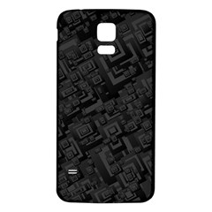 Black Rectangle Wallpaper Grey Samsung Galaxy S5 Back Case (White)