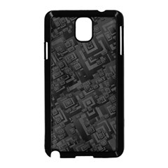 Black Rectangle Wallpaper Grey Samsung Galaxy Note 3 Neo Hardshell Case (Black)
