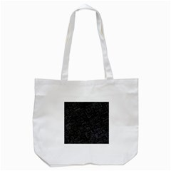 Black Rectangle Wallpaper Grey Tote Bag (White)