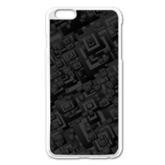 Black Rectangle Wallpaper Grey Apple iPhone 6 Plus/6S Plus Enamel White Case