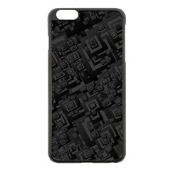 Black Rectangle Wallpaper Grey Apple iPhone 6 Plus/6S Plus Black Enamel Case