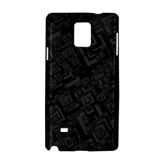 Black Rectangle Wallpaper Grey Samsung Galaxy Note 4 Hardshell Case