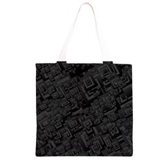Black Rectangle Wallpaper Grey Grocery Light Tote Bag