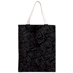 Black Rectangle Wallpaper Grey Classic Light Tote Bag