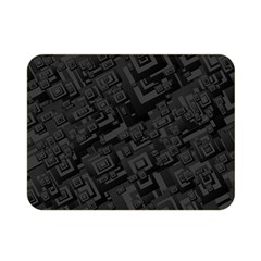 Black Rectangle Wallpaper Grey Double Sided Flano Blanket (Mini)