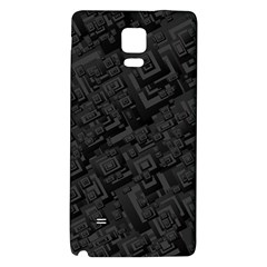 Black Rectangle Wallpaper Grey Galaxy Note 4 Back Case